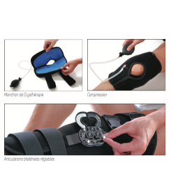 Attelle Support Everest Ice Donjoy - Orthopédie Grenié Lapeyre - immobilisation du genou - froid genou - entorses du genou
