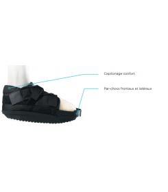 Chaussure CHV Sober - Orthopédie Lapeyre - fractures des métatarsiens - décharge de l'avant pied - hallux valgus