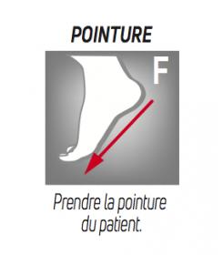 Prise mesure -Botte Airselect Standard Donjoy  longue/courte - orthopédie lapeyre- entorse grave cheville - fracture tarse -
